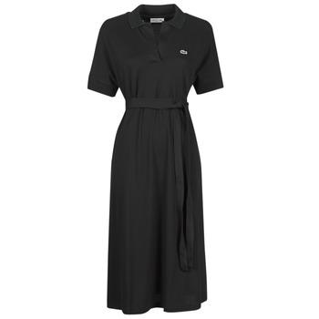 Υφασμάτινα Γυναίκα Μακριά Φορέματα Lacoste KONNI Black