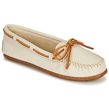 Παπούτσια Γυναίκα Μοκασσίνια Minnetonka BOAT MOC Άσπρο