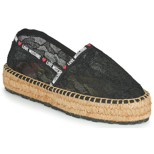 Παπούτσια Γυναίκα Εσπαντρίγια Love Moschino JA10373G1C Black