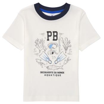 Υφασμάτινα Αγόρι T-shirt με κοντά μανίκια Petit Bateau MARCO Άσπρο