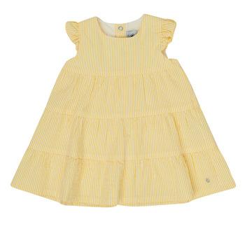 Υφασμάτινα Κορίτσι Κοντά Φορέματα Petit Bateau MERINGUE Yellow