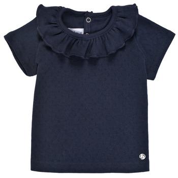 Υφασμάτινα Κορίτσι T-shirt με κοντά μανίκια Petit Bateau MELISSA Marine