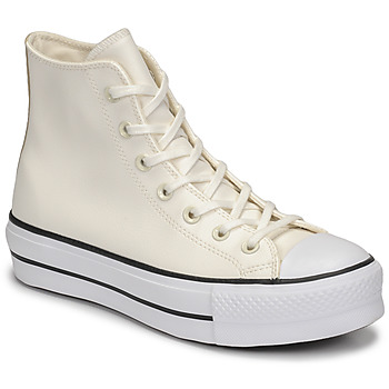 Παπούτσια Γυναίκα Ψηλά Sneakers Converse CHUCK TAYLOR ALL STAR LIFT ANODIZED METALS HI Άσπρο / Beige