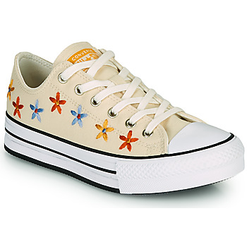 Παπούτσια Κορίτσι Χαμηλά Sneakers Converse CHUCK TAYLOR ALL STAR EVA LIFT SPRING FLOWERS OX Άσπρο