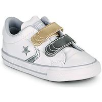 Παπούτσια Κορίτσι Χαμηλά Sneakers Converse STAR PLAYER 2V METALLIC LEATHER OX Άσπρο