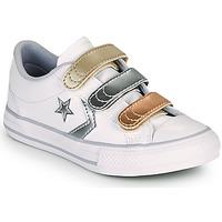 Παπούτσια Κορίτσι Χαμηλά Sneakers Converse STAR PLAYER 3V METALLIC LEATHER OX Άσπρο