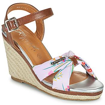 Παπούτσια Γυναίκα Σανδάλια / Πέδιλα Kaporal MAKITA Brown / Άσπρο