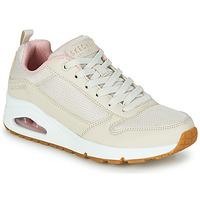 Παπούτσια Γυναίκα Χαμηλά Sneakers Skechers UNO INSIDE MATTERS Beige / Ροζ