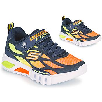 Παπούτσια Αγόρι Χαμηλά Sneakers Skechers FLEX-GLOW Marine / Orange