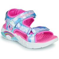 Παπούτσια Κορίτσι Σπορ σανδάλια Skechers RAINBOW RACER Silver / Ροζ