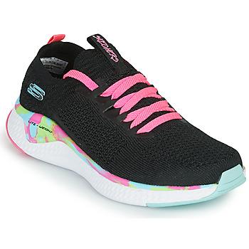 Παπούτσια Κορίτσι Χαμηλά Sneakers Skechers SOLAR FUSE Black / Ροζ