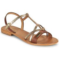 Παπούτσια Γυναίκα Σανδάλια / Πέδιλα Les Tropéziennes par M Belarbi HIRONELA Tan / Silver