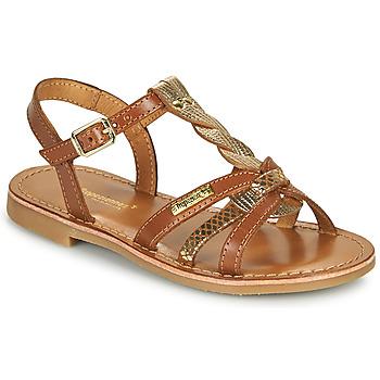 Παπούτσια Κορίτσι Σανδάλια / Πέδιλα Les Tropéziennes par M Belarbi BADAMI Camel / Dore