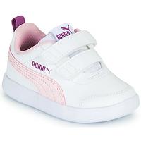 Παπούτσια Κορίτσι Χαμηλά Sneakers Puma COURTFLEX INF Άσπρο / Ροζ