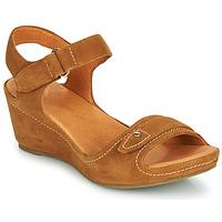 Παπούτσια Γυναίκα Σανδάλια / Πέδιλα Mam'Zelle DARDA Cognac