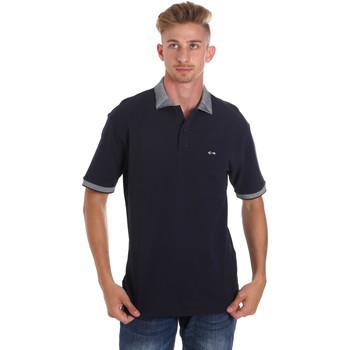 Υφασμάτινα Άνδρας Πόλο με κοντά μανίκια  Les Copains 9U9024 Μπλε