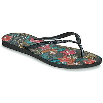 Παπούτσια Γυναίκα Σαγιονάρες Havaianas SLIM TROPICAL Black / Grey