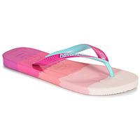 Παπούτσια Γυναίκα Σαγιονάρες Havaianas TOP LOGOMANIA MULTICOLOR Ροζ