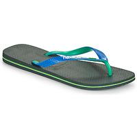 Παπούτσια Άνδρας Σαγιονάρες Havaianas BRASIL MIX Black / Μπλέ