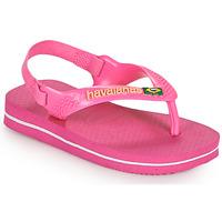 Παπούτσια Κορίτσι Σαγιονάρες Havaianas BABY BRASIL LOGO II Ροζ
