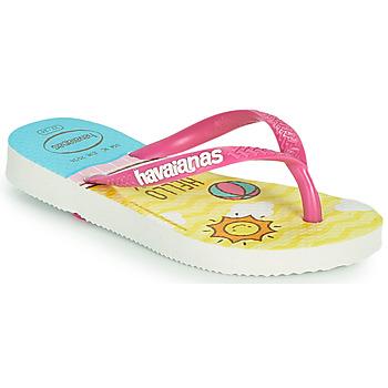 Παπούτσια Κορίτσι Σαγιονάρες Havaianas KIDS SLIM HELLO KITTY Άσπρο