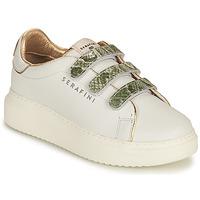 Παπούτσια Γυναίκα Χαμηλά Sneakers Serafini CONNORS Άσπρο / Gold / Green