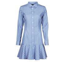 Υφασμάτινα Γυναίκα Κοντά Φορέματα Lauren Ralph Lauren TRIELLA Μπλέ / Άσπρο