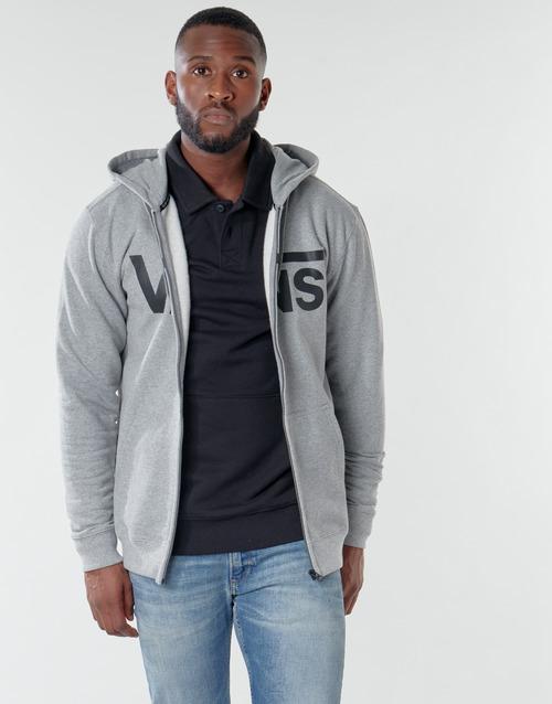 Υφασμάτινα Άνδρας Φούτερ Vans VANS CLASSIC ZIP HOODIE II Grey / Black