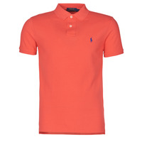 Υφασμάτινα Άνδρας Πόλο με κοντά μανίκια  Polo Ralph Lauren POLO CINTRE SLIM FIT EN COTON BASIC MESH LOGO PONY PLAYER Red