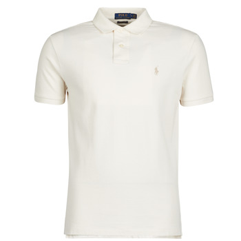 Υφασμάτινα Άνδρας Πόλο με κοντά μανίκια  Polo Ralph Lauren POLO CINTRE SLIM FIT EN COTON BASIC MESH LOGO PONY PLAYER Ecru