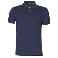 Υφασμάτινα Άνδρας Πόλο με κοντά μανίκια  Polo Ralph Lauren POLO CINTRE SLIM FIT EN COTON BASIC MESH LOGO PONY PLAYER Marine