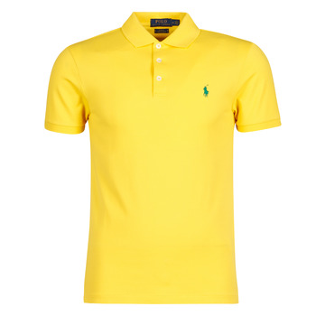 Υφασμάτινα Άνδρας Πόλο με κοντά μανίκια  Polo Ralph Lauren POLO CINTRE SLIM FIT EN COTON STRETCH MESH LOGO PONY PLAYER Yellow