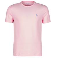 Υφασμάτινα Άνδρας T-shirt με κοντά μανίκια Polo Ralph Lauren T-SHIRT AJUSTE COL ROND EN COTON LOGO PONY PLAYER Ροζ