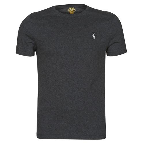 Υφασμάτινα Άνδρας T-shirt με κοντά μανίκια Polo Ralph Lauren T-SHIRT AJUSTE COL ROND EN COTON LOGO PONY PLAYER Black