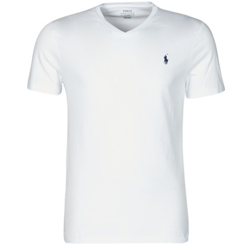 Υφασμάτινα Άνδρας T-shirt με κοντά μανίκια Polo Ralph Lauren T-SHIRT AJUSTE COL V EN COTON LOGO PONY PLAYER Άσπρο