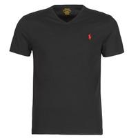 Υφασμάτινα Άνδρας T-shirt με κοντά μανίκια Polo Ralph Lauren T-SHIRT AJUSTE COL V EN COTON LOGO PONY PLAYER Black