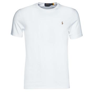 Υφασμάτινα Άνδρας T-shirt με κοντά μανίκια Polo Ralph Lauren T-SHIRT AJUSTE COL ROND EN PIMA COTON LOGO PONY PLAYER MULTICOLO Άσπρο