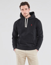 Υφασμάτινα Άνδρας Φούτερ Polo Ralph Lauren SWEAT A CAPUCHE MOLTONE EN COTON LOGO PONY PLAYER Black
