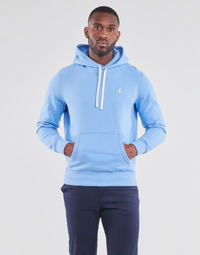 Υφασμάτινα Άνδρας Φούτερ Polo Ralph Lauren SWEAT A CAPUCHE MOLTONE EN COTON LOGO PONY PLAYER Μπλέ