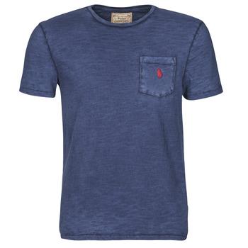 Υφασμάτινα Άνδρας T-shirt με κοντά μανίκια Polo Ralph Lauren T-SHIRT AJUSTE COL ROND EN COTON LOGO PONY PLAYER Μπλέ