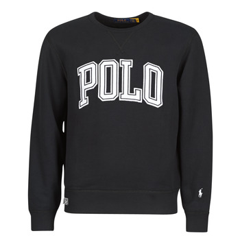 Υφασμάτινα Άνδρας Φούτερ Polo Ralph Lauren SWEATSHIRT COL ROND INSCIRPTION POLO ET PONY PLAYER SUR LA MANCH Black
