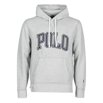 Υφασμάτινα Άνδρας Φούτερ Polo Ralph Lauren SWEATSHIRT CAPUCHE INSCIRPTION POLO ET PONY PLAYER SUR LA MANCHE Grey