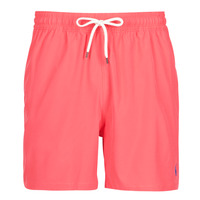 Υφασμάτινα Άνδρας Μαγιώ / shorts για την παραλία Polo Ralph Lauren MAILLOT SHORT DE BAIN EN NYLON RECYCLE, CORDON DE SERRAGE ET POC Red