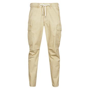 Υφασμάτινα Άνδρας παντελόνι παραλλαγής Polo Ralph Lauren SHORT PREPSTER AJUSTABLE ELASTIQUE AVEC CORDON INTERIEUR LOGO PO Beige