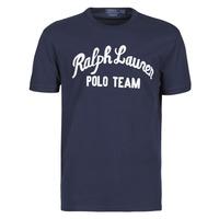 Υφασμάτινα Άνδρας T-shirt με κοντά μανίκια Polo Ralph Lauren T-SHIRT COL ROND EN COTON AVEC POLO RALPH LAUREN SIGNATURE Marine