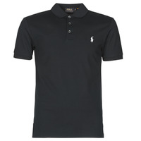 Υφασμάτινα Άνδρας Πόλο με κοντά μανίκια  Polo Ralph Lauren POLO CINTRE SLIM FIT EN COTON STRETCH MESH LOGO PONY PLAYER Black