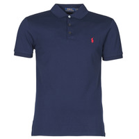 Υφασμάτινα Άνδρας Πόλο με κοντά μανίκια  Polo Ralph Lauren POLO CINTRE SLIM FIT EN COTON STRETCH MESH LOGO PONY PLAYER Marine