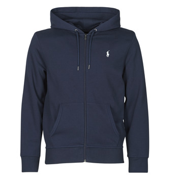 Υφασμάτινα Άνδρας Φούτερ Polo Ralph Lauren SWEATSHIRT A CAPUCHE ZIPPE EN JOGGING DOUBLE KNIT TECH LOGO PONY Marine