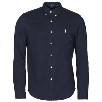 CHEMISE AJUSTEE COL BOUTONNE EN POLO FEATHERWEIGHT LOGO PONY PLA