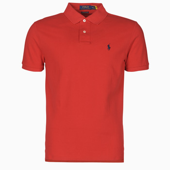 Υφασμάτινα Άνδρας Πόλο με κοντά μανίκια  Polo Ralph Lauren POLO AJUSTE DROIT EN COTON BASIC MESH LOGO PONY PLAYER Red